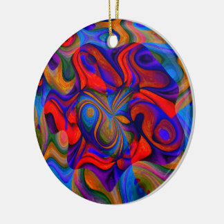 Joker wild rundes keramik ornament