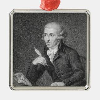 Joseph Haydn gravierte durch Schiavonnetti, 1792 Quadratisches Silberfarbenes Ornament