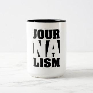 Journalismus-Kaffee-Tasse Zweifarbige Tasse