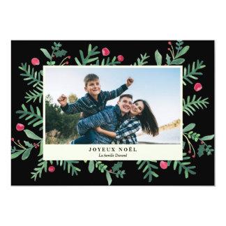 Joyeux Noël Aquarell | Carte de Noël 12,7 X 17,8 Cm Einladungskarte
