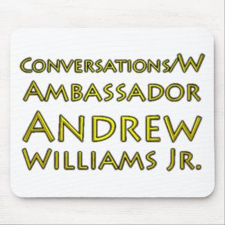 Jr. der Gesprächs-w/Ambassador Andrew Williams Mauspads