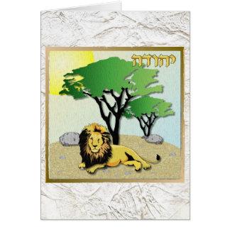 Judaika 12 Stämme Israel Judah Grußkarte