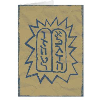 Judaika: Beunruhigte Tem Gebote im Blau Grußkarte