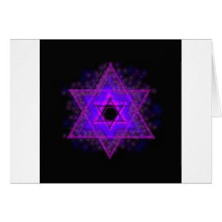 Judaika,…, glühend in Dunkelheit Grußkarte