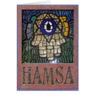 Judaika: Gold Hamsa w/Star, böser Blick u. Talit Karte