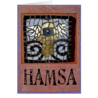 Judaika: Hamsa Mosaik w/Wings und schlechtes Eve Grußkarte