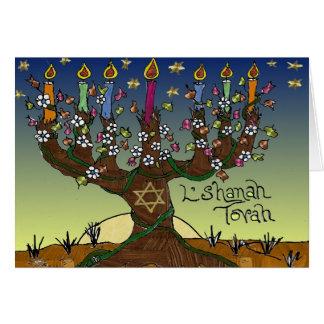 Judaika L'shanah Tovah Baum des Grußkarte