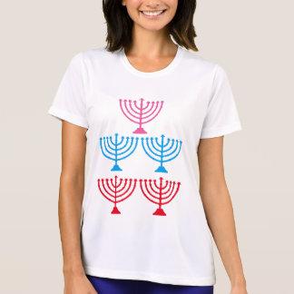 Juden jüdischer Menorah Scheinkandelaber T-Shirt