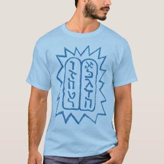 Jüdisch: Das zehn Commandmenst Blau auf Blau T-Shirt