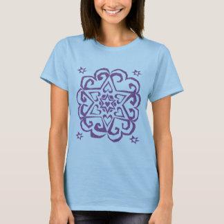 Jüdisch: Davidsstern Und Herz-Mandala T-Shirt