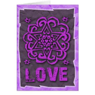Jüdisch: Herzen und Davidsstern Mandala-Liebe Grußkarte