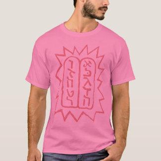 Jüdisch: Zehn Gebot-Rosa auf Rosa T-Shirt