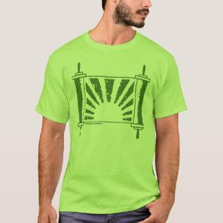 Jüdische Judaika Torah im Grün auf Grün T-Shirt