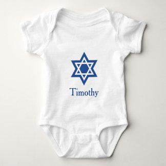 Jüdischer Davidsstern Personifizieren Baby Strampler