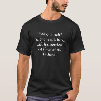Jüdischer Gedanke - Ethik der Väter T-Shirt