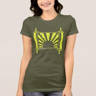 Jüdischer Judaika-Sonnenaufgang Torah im Gold T-Shirt