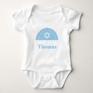 Jüdisches Kippah personifizieren Baby Strampler
