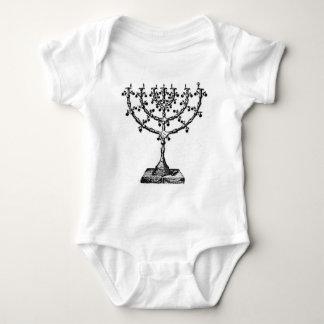 Jüdisches menorah baby strampler