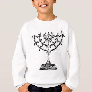 Jüdisches menorah sweatshirt