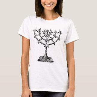 Jüdisches menorah T-Shirt