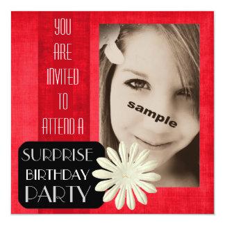 Jugendlich Mädchen-Überraschungs-Geburtstags-Party Einladungskarte