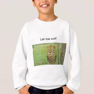 jugendlich Schweiss-Shirt, Löwe, eingesperrt, Sweatshirt