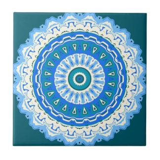 Julia-Mandala-Blau Kleine Quadratische Fliese