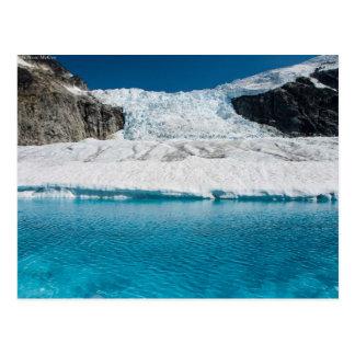 Juneau Icefield Icefall und super Glazial- See Postkarte