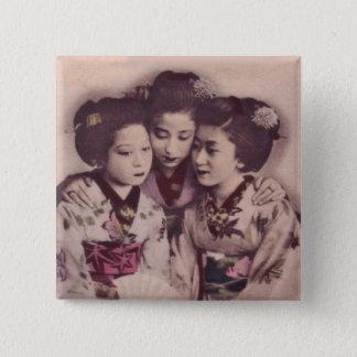Junge Geishamädchen Quadratischer Button 5,1 Cm