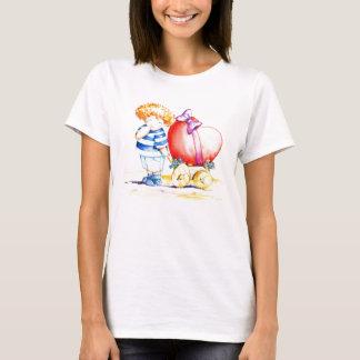 Junge mit Herzen T-Shirt