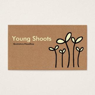 Junge-Trieb - Sahne- und schwarz auf Pappe Tex Visitenkarte