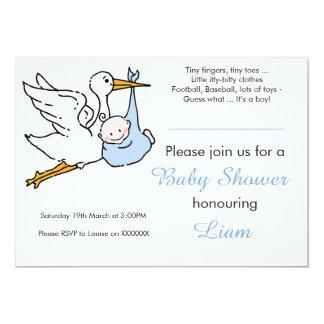 Jungen-Babyparty-Einladung 12,7 X 17,8 Cm Einladungskarte