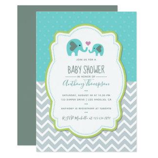 Jungen Babyparty Elefant Einladung Karte
