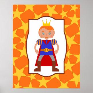 Jungen-Geburtstags-Party Prinz-Bezaubern Poster