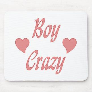 Jungen-verrückte Herzen Mauspads