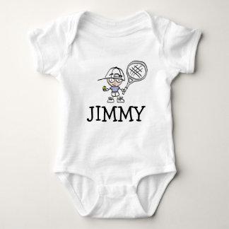 Jungenbabybodysuit mit niedlichem Tennis-Cartoon Baby Strampler