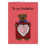 Jungenbär, der Valentinsgruß für Patekarte hält Karten