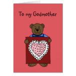 Jungenbär, der Valentinsgruß für Patinkarte hält Karte