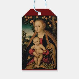 Jungfrau-Kind unter Apfelbaum Cranach Geschenkanhänger