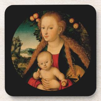 Jungfrau-Kind unter Apfelbaum Cranach Getränkeuntersetzer