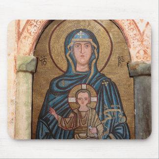 Jungfrau Mary und Jesus-Mosaik Mauspad
