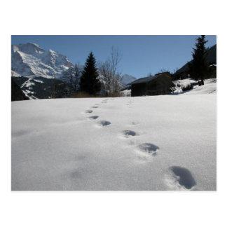Jungfrau Region, Weg durch thr-Berge Postkarte