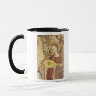 Jungfrau und Kind inthronisiert mit sechs Engeln Tasse
