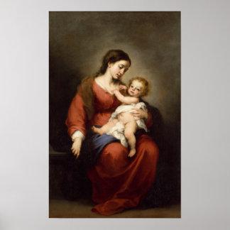 Jungfrau und Kind Poster