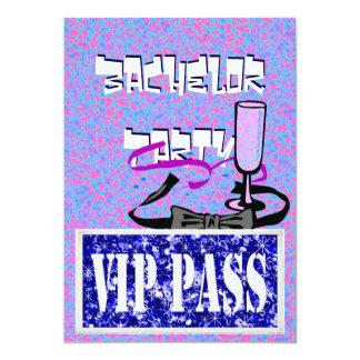 Junggeselle blaue vip-Party Einladung
