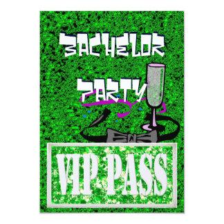 Junggeselle grüne vip-Party Einladung
