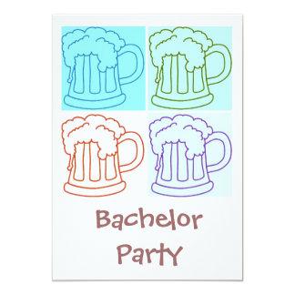 Junggeselle-Party-Bier 12,7 X 17,8 Cm Einladungskarte