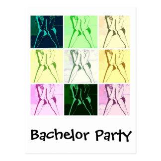 Junggeselle-Party-Geschenke Postkarte