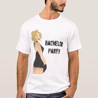 Junggeselle-Party Pinup-Mädchen-Shirt T-Shirt