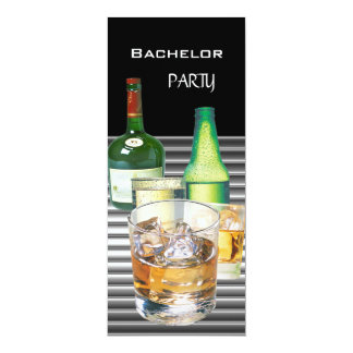 Junggeselle-Party trinkt Flaschen 2 10,2 X 23,5 Cm Einladungskarte